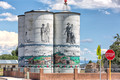 Grain Towers with Murals - Antonito, CO
